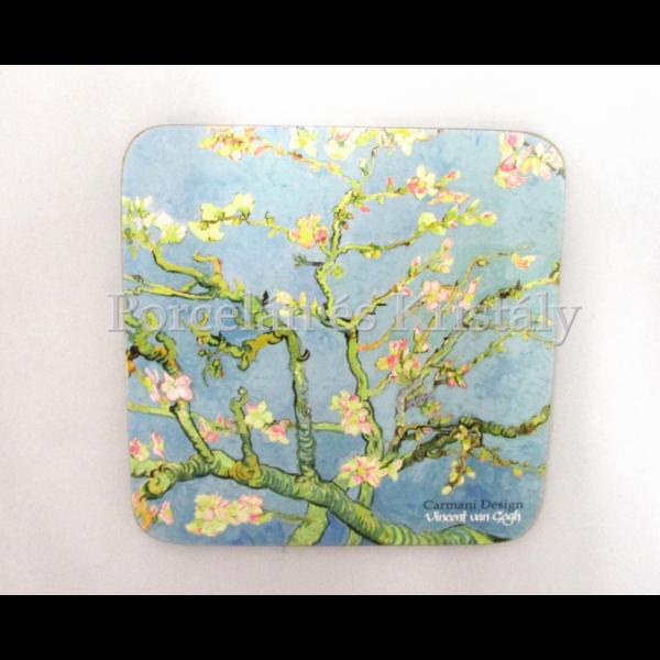 H.C.830-0004 Parafa poháralátét Van Gogh: Mandulavirágzás 10x10 cm