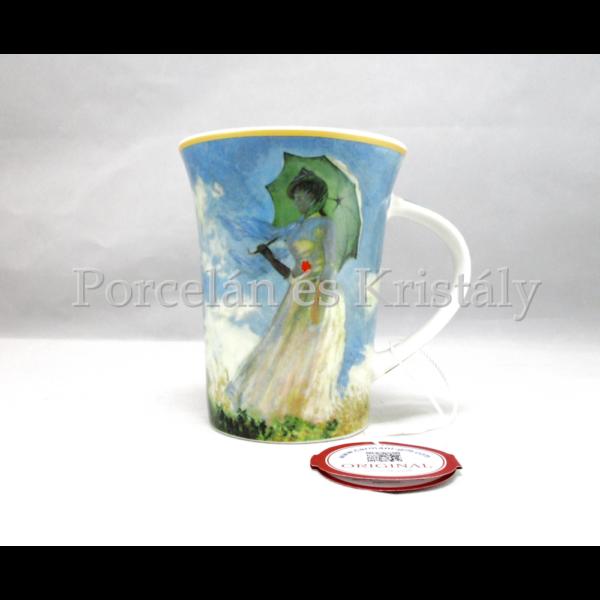 H.C.045-8102 Porcelánbögre 350 ml, Monet: Nő esernyővel