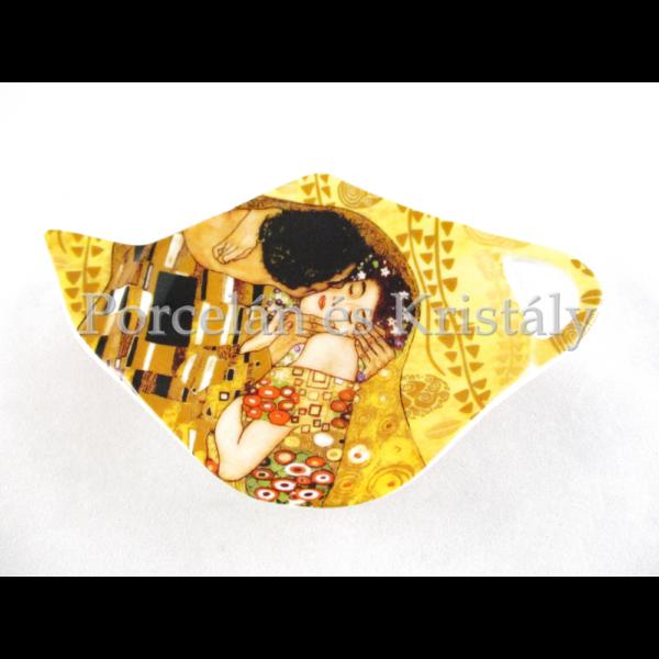 H.C.532-1401 Porcelán teafiltertartó 1x12,5x8 cm, Klimt: Csók