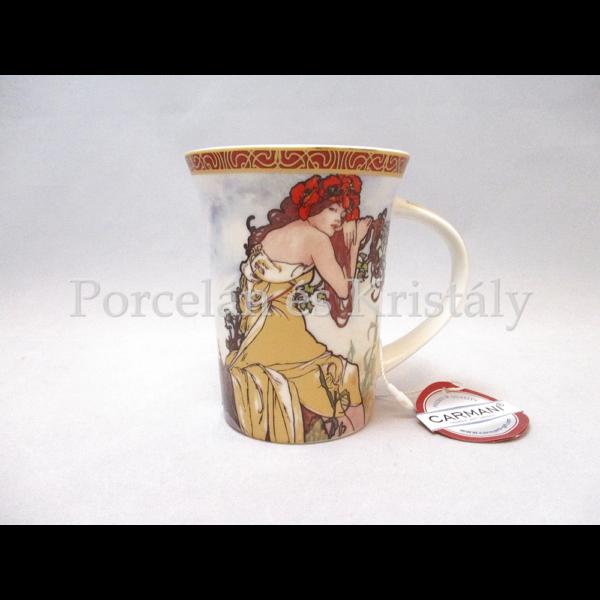 H.C.539-8102 Porcelánbögre 350 ml, Mucha: Nyár