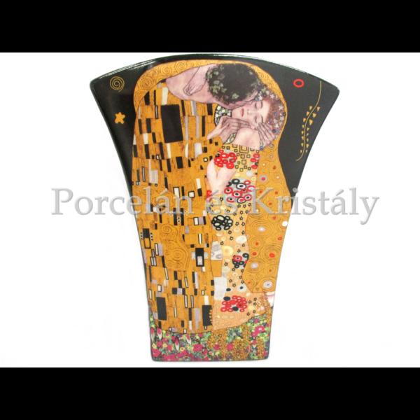 P.P.W4B46-16599 Porcelán váza 20x15x6 cm, Klimt: Csók