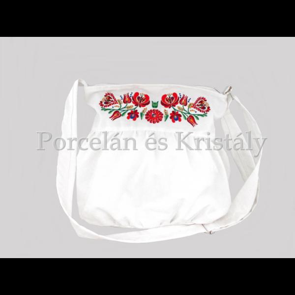 Buggyos táska Matyó, fehér-színes 30x35x25cm