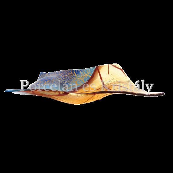 Blue Oasis Négyzet formájú hullámos szélű tál 6x30x32 cm
