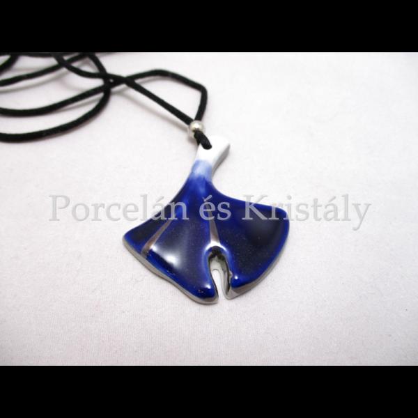 10594/8423 Ginkgo medál kék, 5x4 cm