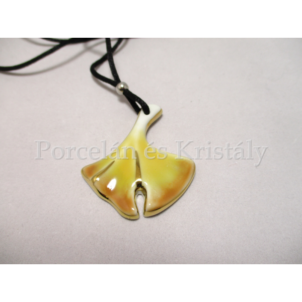 10594/8427 Ginkgo medál sárga, 5x4 cm