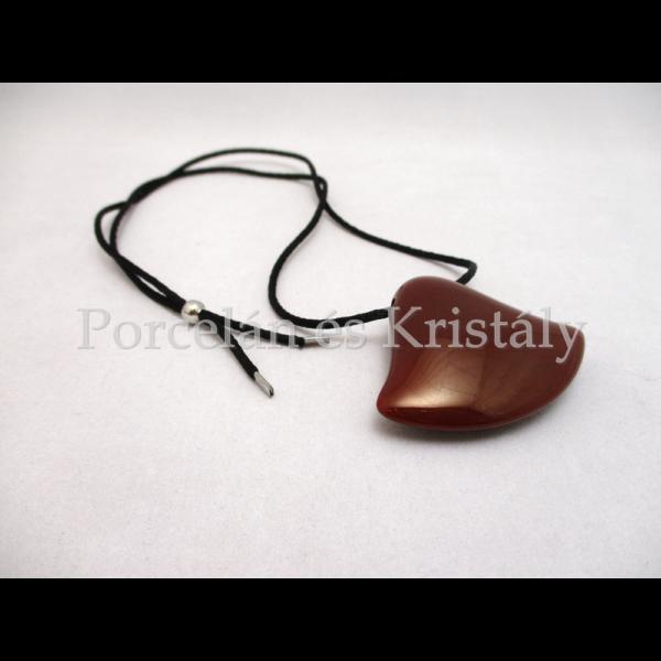 10635 Harang nyaklánc piros eosin, 4x5,5 cm