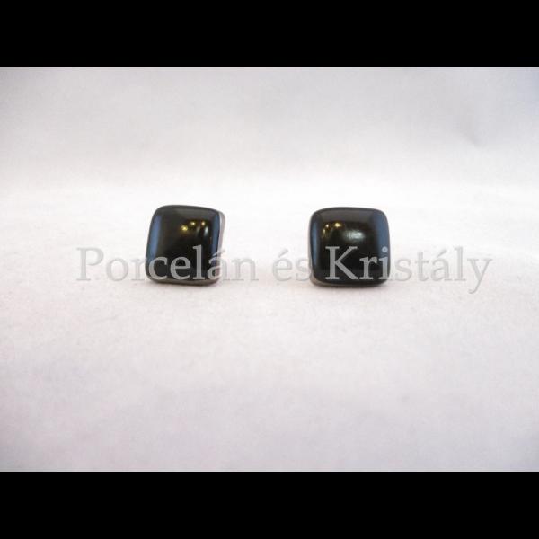 10648/8424  Fülbevaló fekete, 1,5x1,5 cm