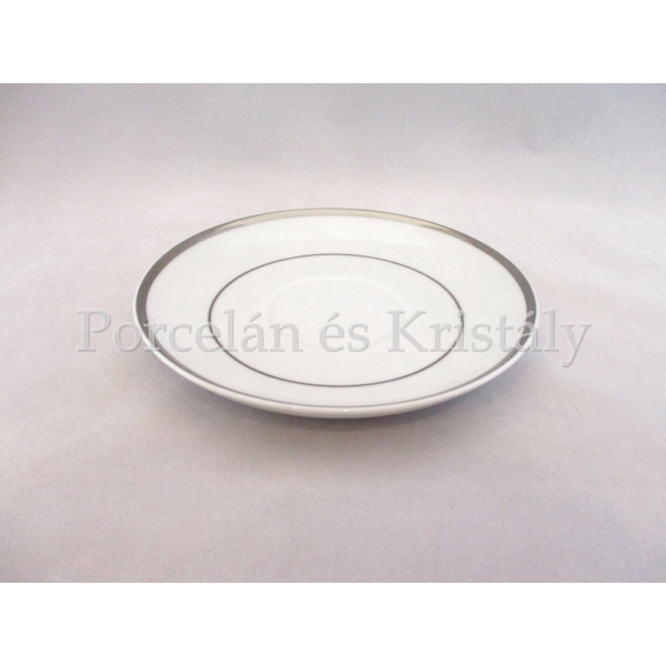 9100/3384 Teacsésze alj Fehér-platina, 2x15 cm