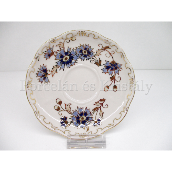 9335/059 Mokkacsésze alj búzavirágos, 2x15,5 cm