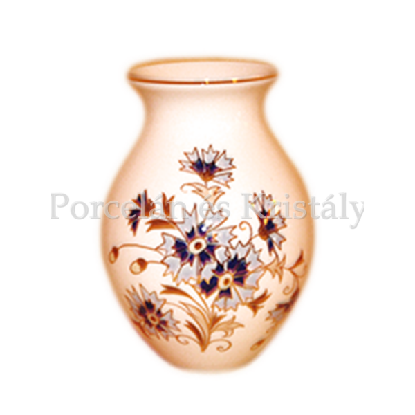 9565/059 Váza búzavirágos, 13x9,5 cm