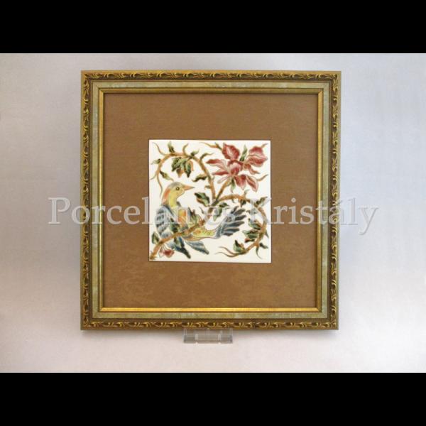 10513/3/8635 Falikép virágos-madaras, 15x15 cm