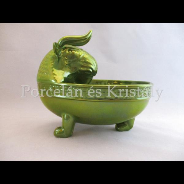 6728 Ivóedény zöld eosin, 17,5x20x14,5 cm